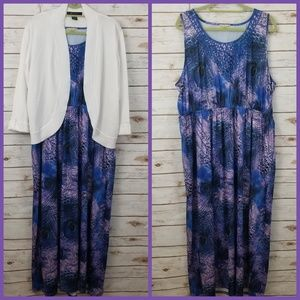 ⬇️$35 Live and Let Live PLUS 2X Peacock Maxi Dress